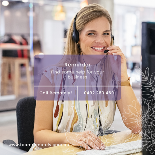 Remotely Virtual Assistance Girl on Phone